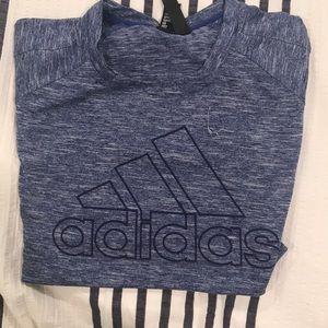 Purple and white adidas tee shirt